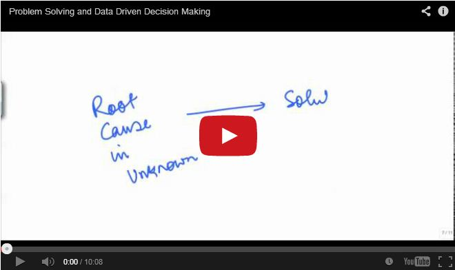 Problem solving and data driven decision making.
